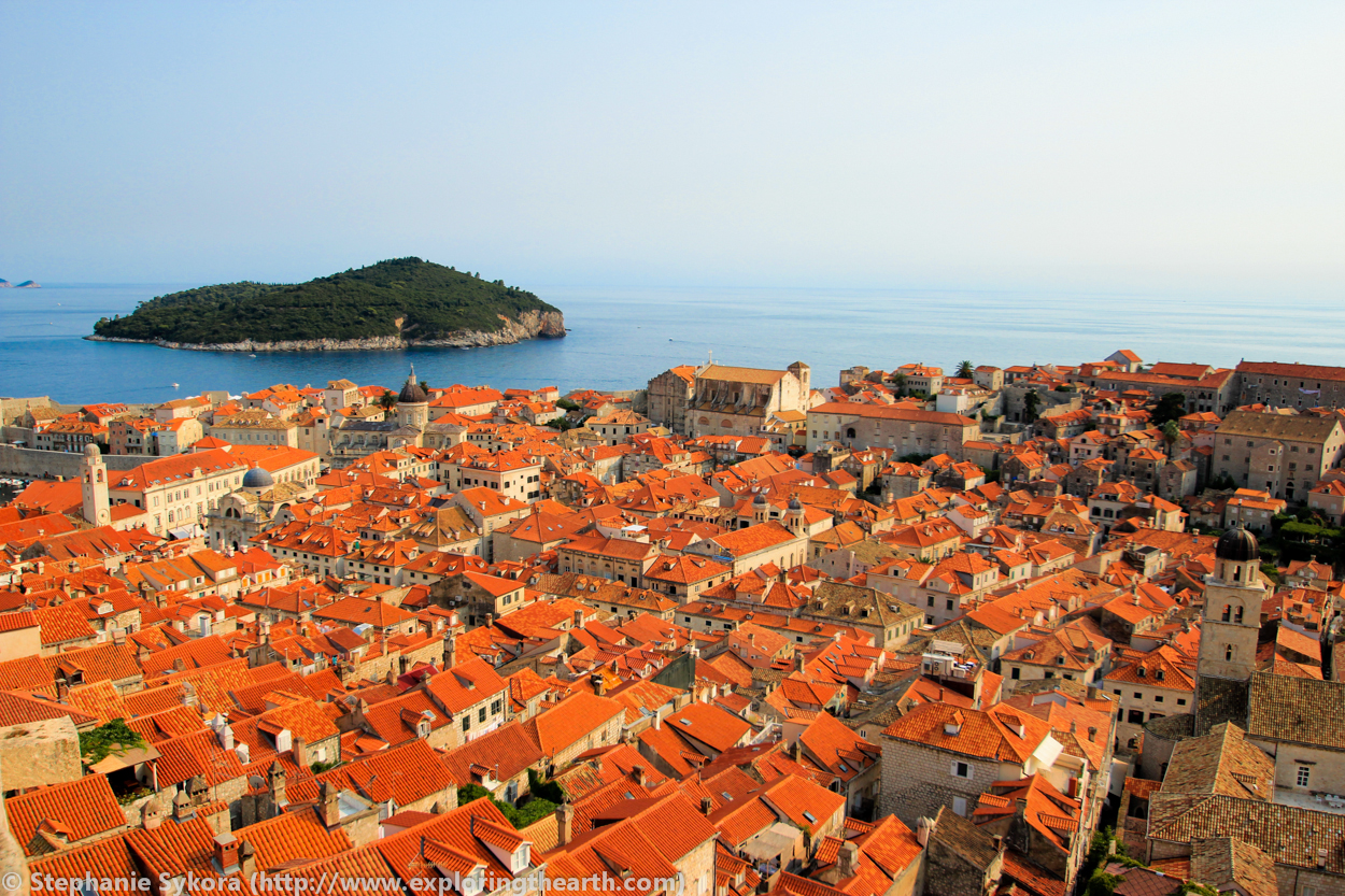 Dubrovnik Croatia Walls Ocean Mediterranean Seaside red roofs Old Town Travel Culture Adventure Europe